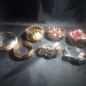 Statement bracelets crystal glass resin Bangles